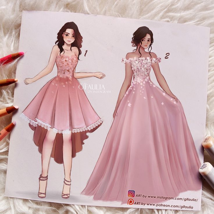 "5,519 curtidas, 154 comentários - Gina Fajri Aulia (@gifaulia) no Instagram: ""Fashion illustrations batch I have always dreamed to be a designer one day haha. which one is…"""