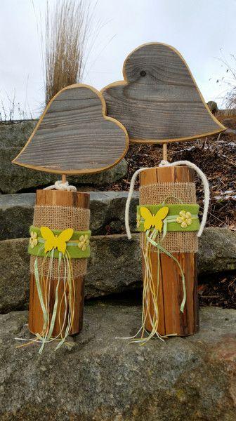 Holz+Herzen/Holzdekoration/Holzpfosten+Herz+von+MaRu+DekoKreativ+auf+DaWanda.com