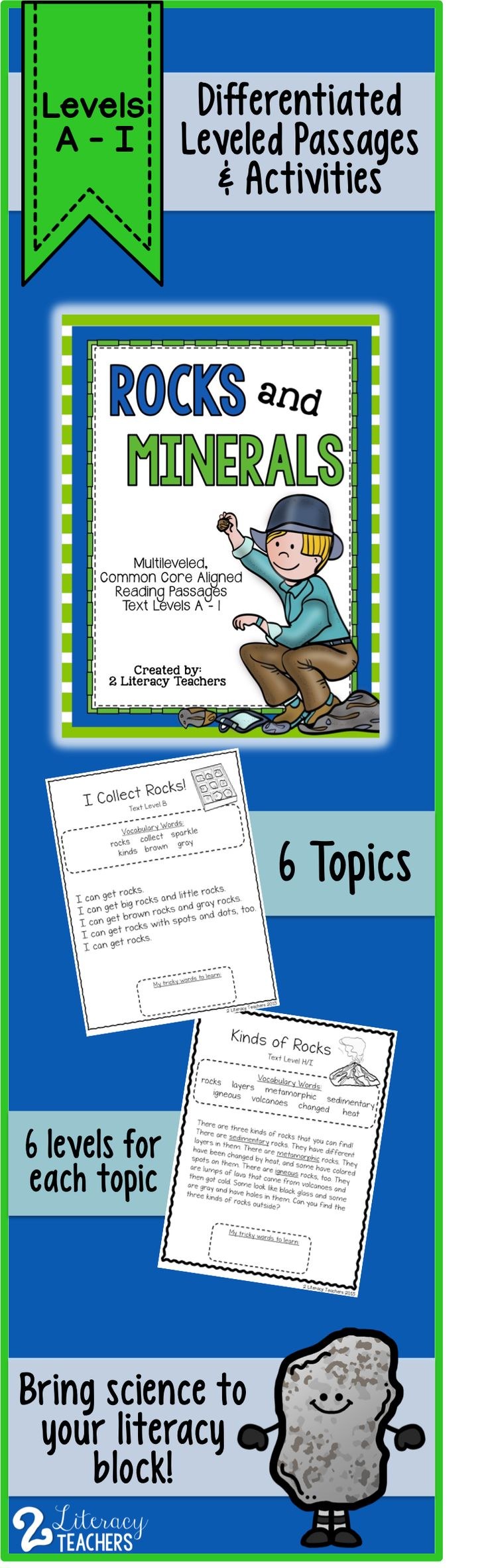 worksheet Leveled Reading Passages reading passages 17 rocks and minerals