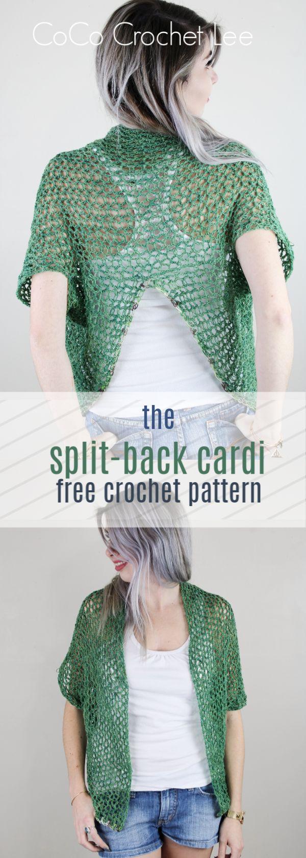 O padrão de Crochet Free Spliti-Cardi!