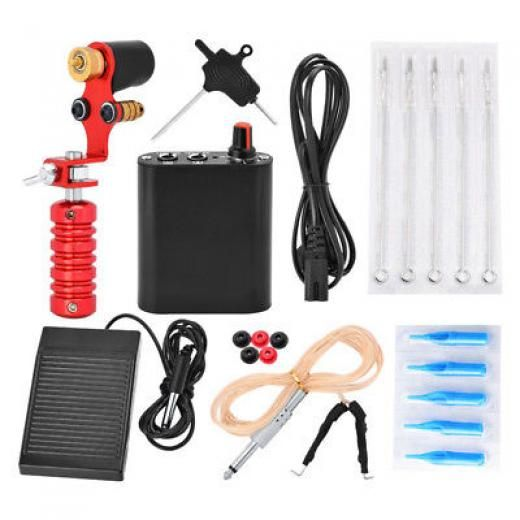 Cheap!! Beginner Motor Tattoo Kit Pro Machine Guns And Accessories Complete Set China