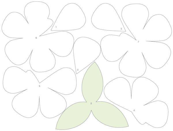 Buquê de Flores de Papel Passo a Passo com Molde    31
