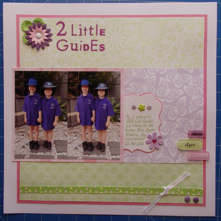 Scrapbook page by Laura: 2 little Guides