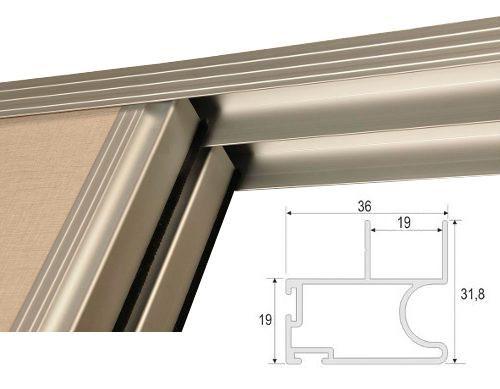 Herrajes ARB - Kit Frente Placard Aluminio 2,00mts X 2,60mts - 2 Puertas