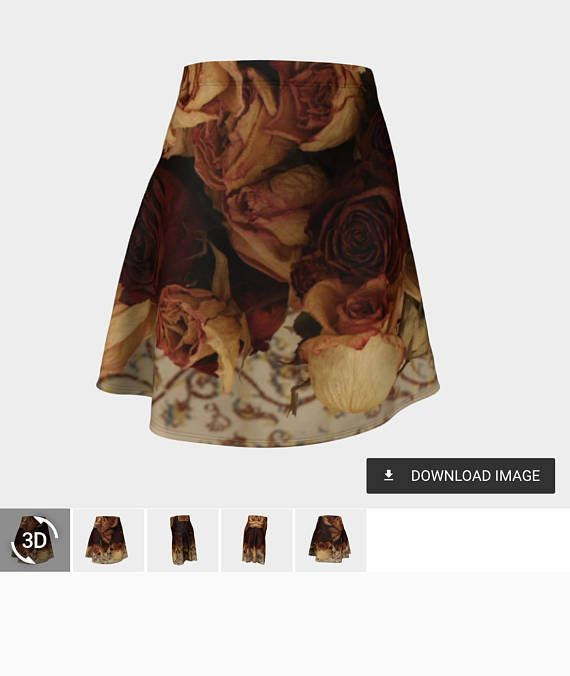 Flare skirts with photographic and art  designs