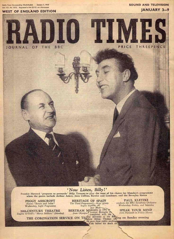 Radio Times, January 1954 (Billy Ternent and Frankie Howerd)