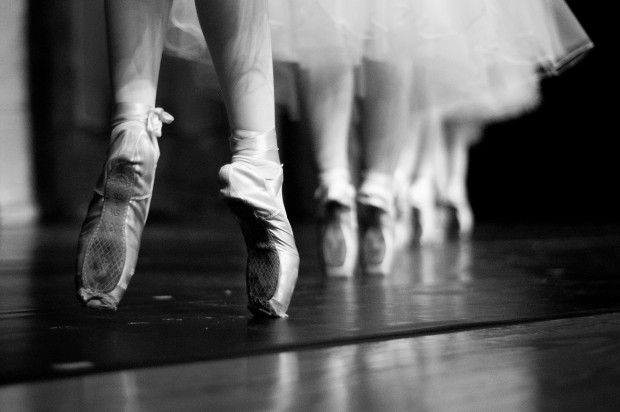 ballet, black and white