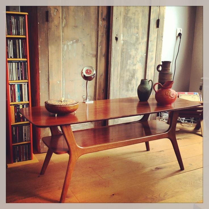 Mooie salontafel van pastoe of webe uit de jaren 39 60 in for Interieur 70 jaren