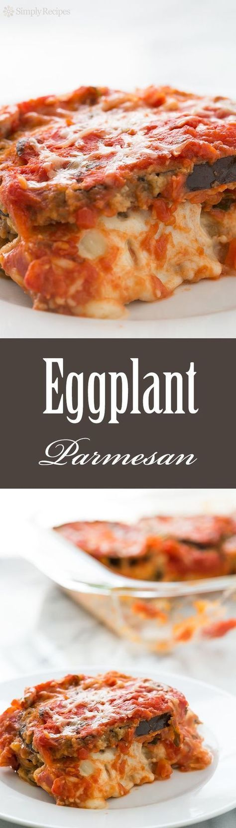 nice Best Eggplant Parmesan Casserole! With breaded eggplant slices layered with Mozz...