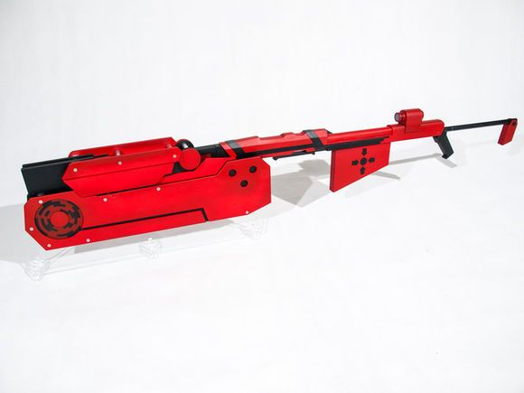 RWBY Red Trailer Ruby Rose Crescent Rose Cosplay Foldable Weapon Prop