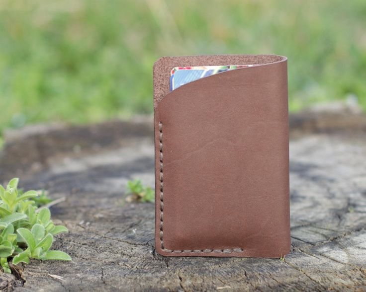 Card holder leather Brown wallet Leather card holder Mens wallet Travel accessories Small leather wallet cardholder business by KodamaLife on Etsy