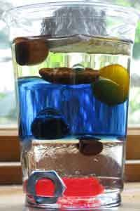 Science- All About Density: Layered Liquids and Sinking Ice and great explanation