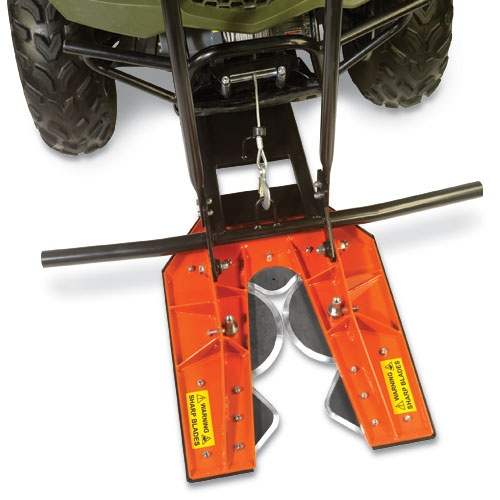 DR Tree Chopper (ATV Attachment) | DR Power Equipment, not that I think I will actually use it, but because I think it would be cool to be able to drive around an ATV and cut down trees at the same time.