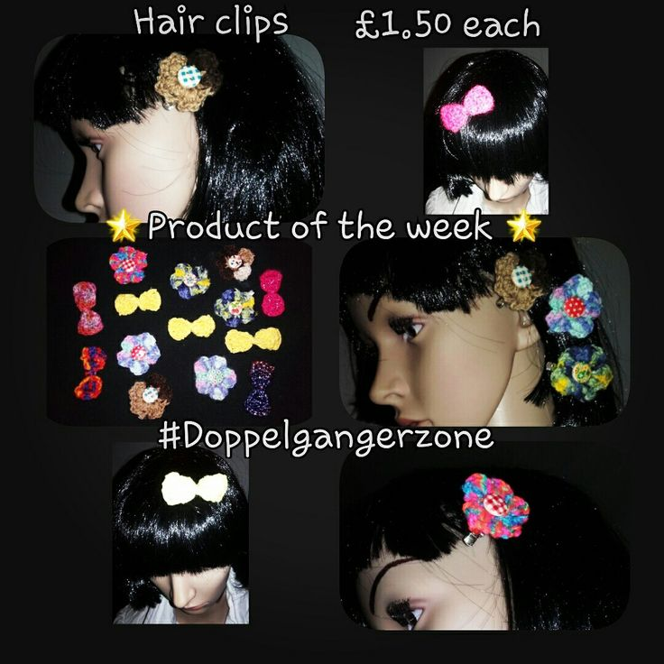 #ProductoftheWeek #handmade #Crochet #hairclips #bows #flowers #hair #accessories #MadetoOrder #request #Doppelgangerzone #bargains