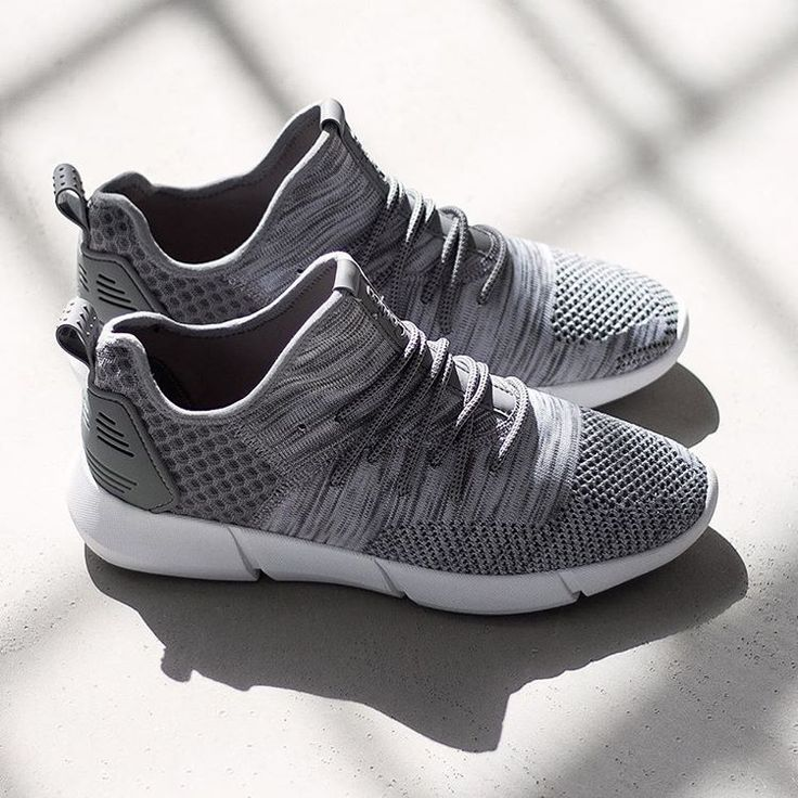 grey knit trainers are in stock sizes -