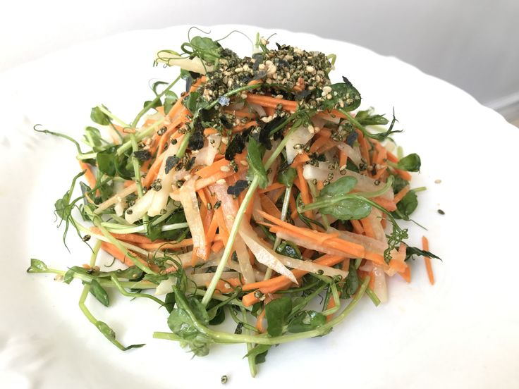 The Latest: Fresh Pea Shoot, Carrot & Radish Salad with Miso Vinaigrette (the perfect follow up to that deep fried meat bender that seemed like such a good idea at the time...) Learn more at:  https://www.platecations.com/single-post/Fresh-Pea-Shoot-Carrot-Radish-Salad-with-Miso-Vinaigrette