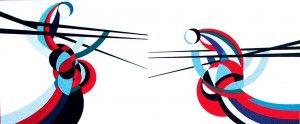 Senza titolo: acrilico su cartone telato 120x50 (1997)