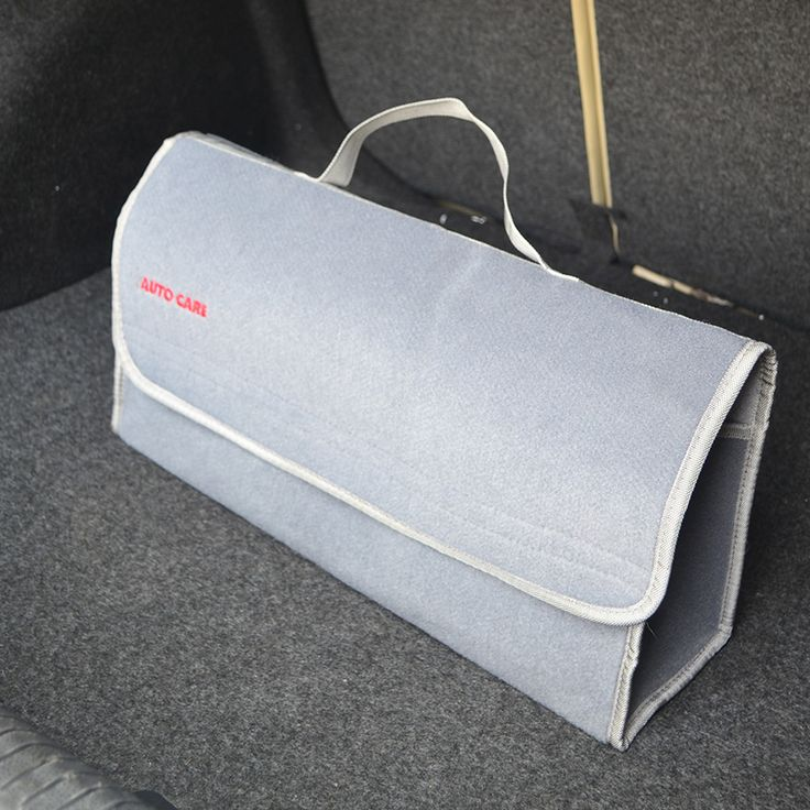 Large Car Smart Tool Bag Grey Trunk Storage Organizer Bag Toys Food Stowing Tidying Interior Accessories Folding Collapsible