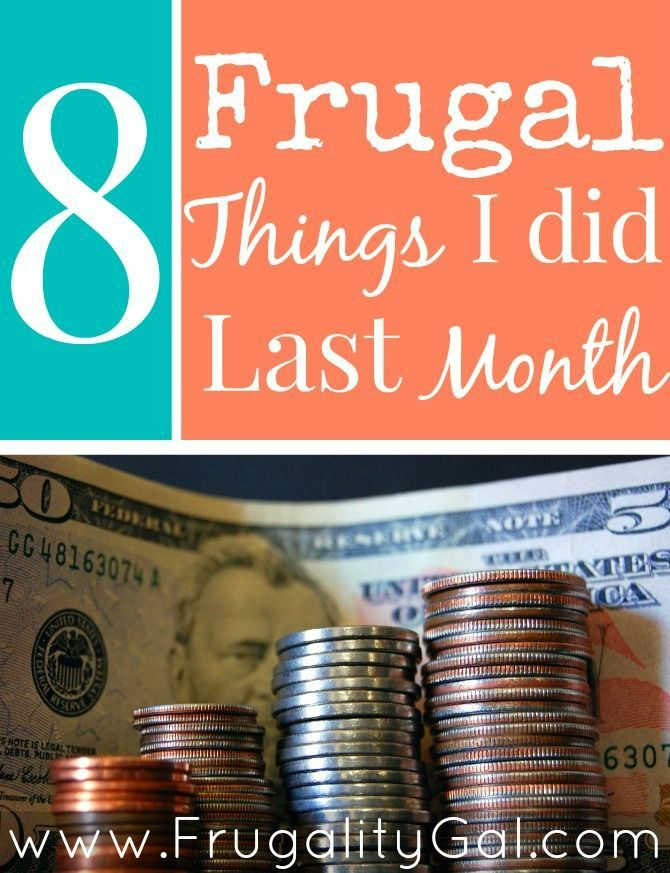 Frugal Things I did Last Month: Practical little tips and tricks to save money around the house.