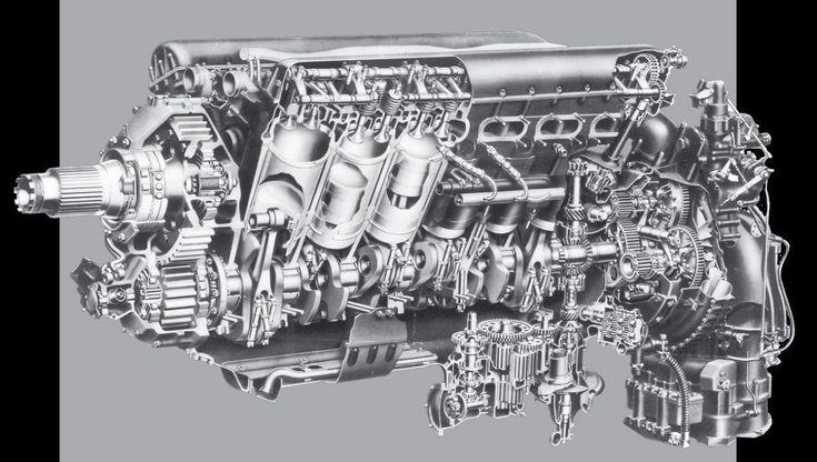 Rolls-Royce Merlin cutaway