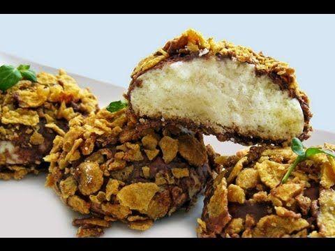 Çikolata soslu cornflakes kurabiye