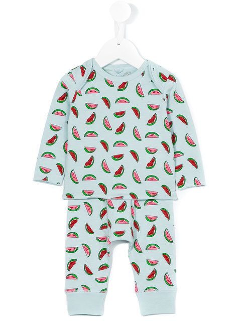 Stella Mccartney Kids watermelon print tracksuit set
