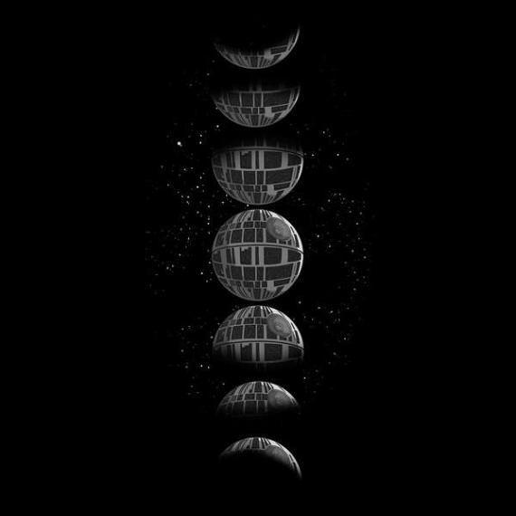 Star Wars Deathstar Luna ciclo t-shirt-que hay ciclo Lunar