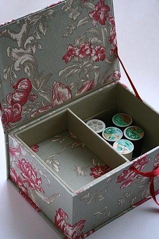 Sewing box.