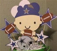 Project Center - Dallas Cowboys baby Centerpieces