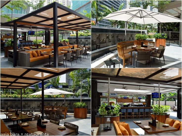 Best 25 outdoor restaurant ideas on pinterest outdoor for Terrace seating ideas