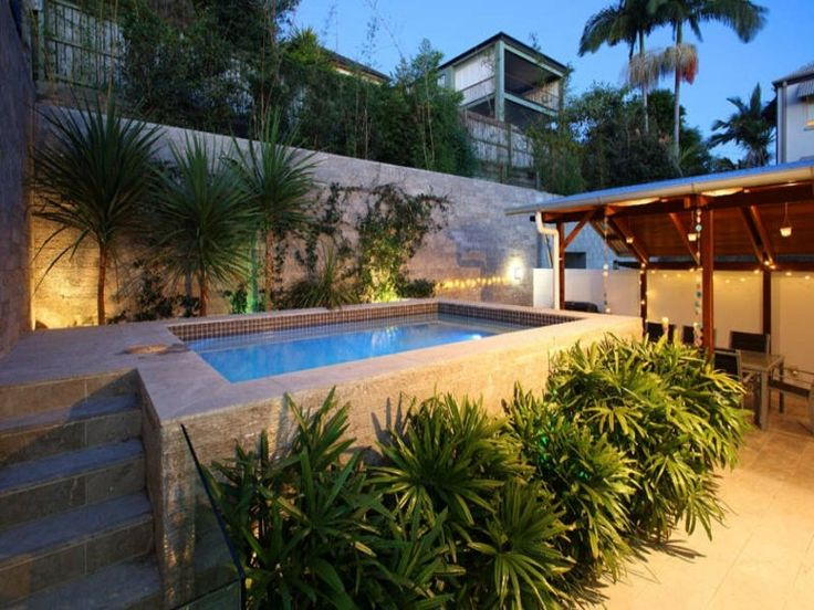 M s de 25 ideas incre bles sobre patio peque o en for Jacuzzi en patios pequenos