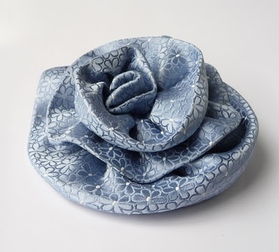 Flower Brooch from old Neck Ties