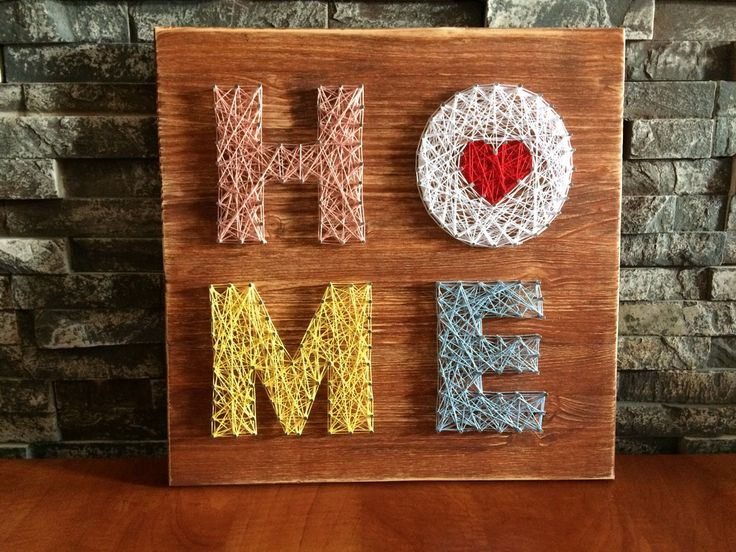 String Art - home - colorful home - DIY