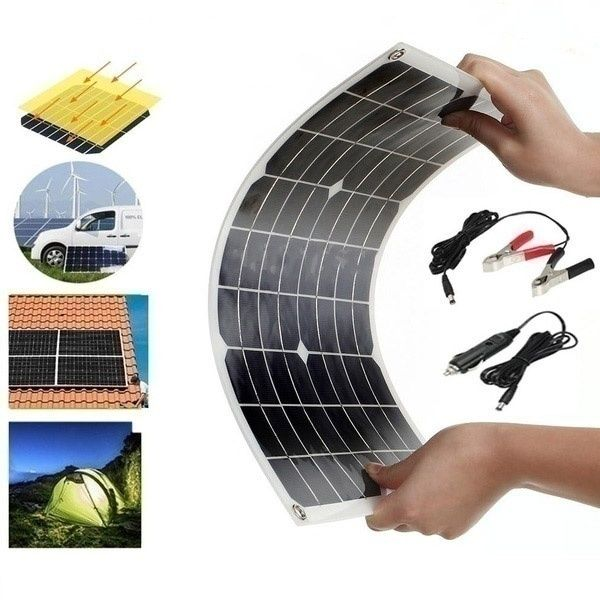 The Latest Waterproof And Snowproof Polysilicon 400w 5v 12 18v Dual Output Usb Solar Panel Flexible Monocrystallin In 2020 Solar Charging Solar Power Kits Solar Panels