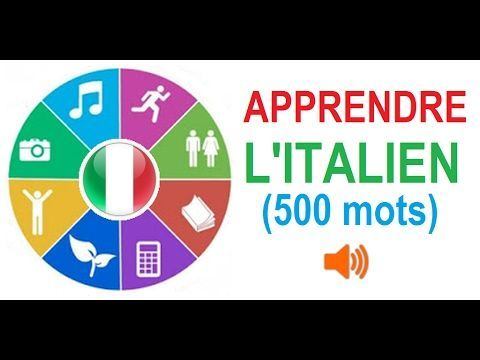Apprendre l'italien (Vocabulaire) - YouTube