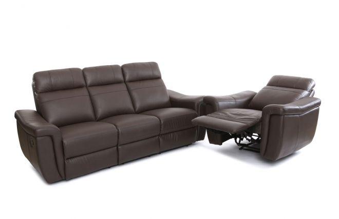 Les 25 meilleures id es de la cat gorie meubles en cuir marron sur pinterest - Fauteuil relax cuir marron ...