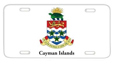 Cayman Islands Flag Coat Of Arms License Plate Metal by BlingSity, $14.95