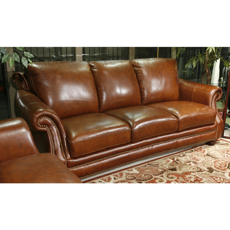 Simi Cognac Leather Sofa For The Moore Home Cognac