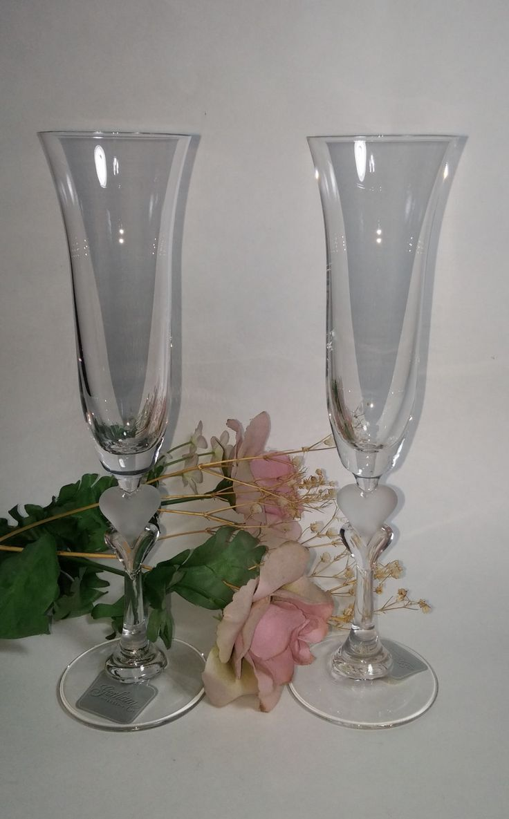 Best 25 gorham crystal ideas on pinterest elegant table nwt nbu crystal flute toasting glasses with frosted heart gorham crystal amore champagne reviewsmspy