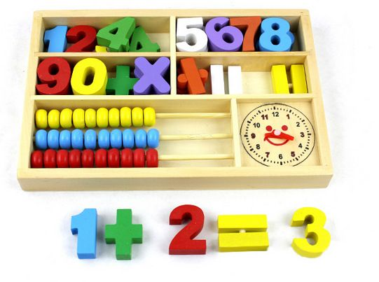 BOHS Mathematic  Abacus Math Counting Calculating Learning Box  Clock Multifunctional Wooden Educational Toys