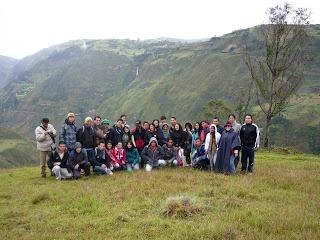 Salida de campo con los estudiantes de la Cátedra Qhapaq Ñan.  Cátedra Qhapaq Ñan
