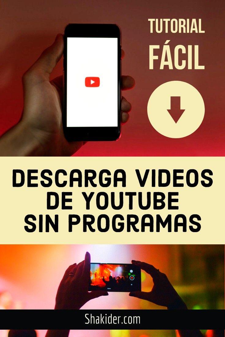 Como Descargar Videos De Youtube Videos Descargar Video Youtube