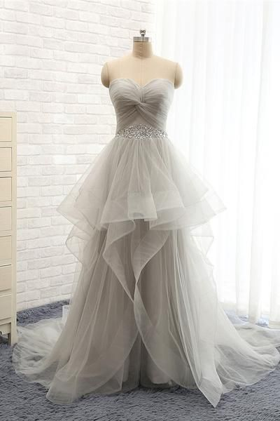 Back Up Lace Strapless Beaded Sweep Train Prom Dresses Buy Best Prom Dress