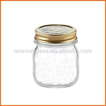 Wholesale glass mason jars 250ml with lid
