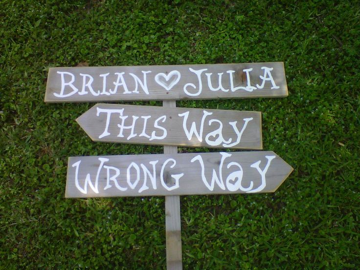 Wedding Sign Alice In Wonderland This Way Wrong Party