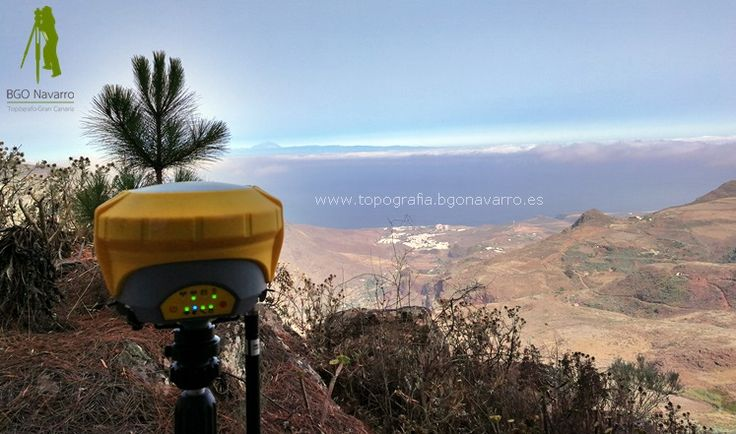 Levantamiento #topografico en #Galdar con vistas al valle de #Agaete y al #Teide. En colaboración con Legalizaciones de propiedades en Canarias Ok7