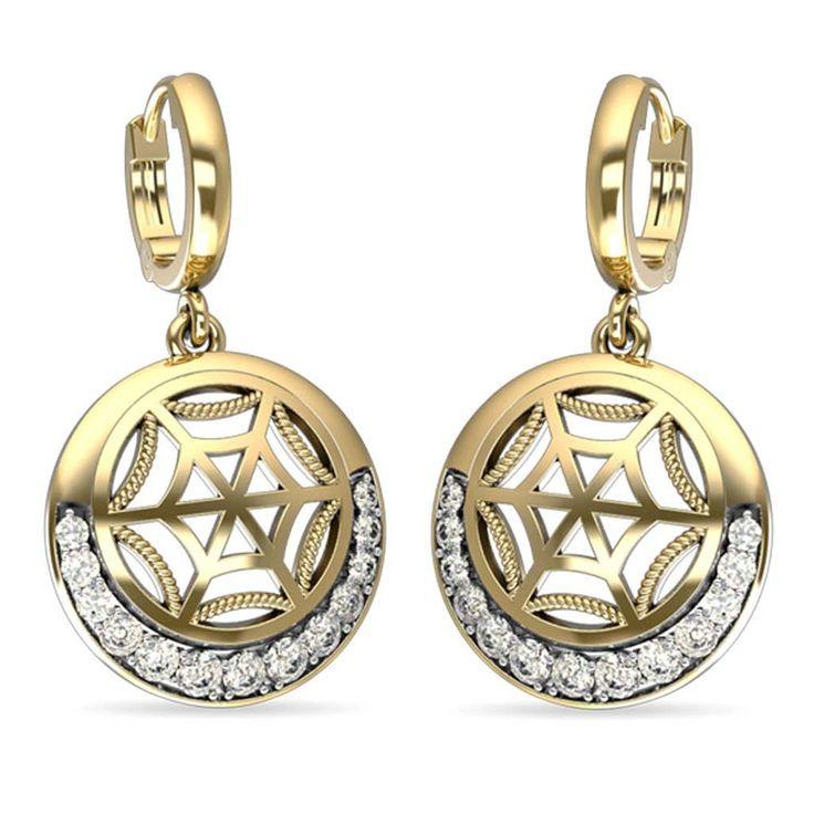 Shield Liner Diamond Earring