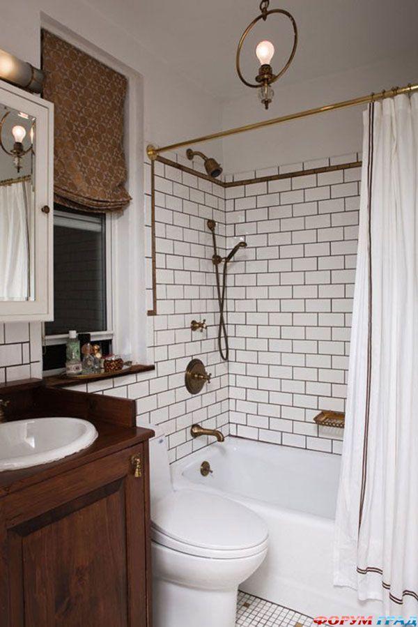 Идея для маленькой ванной комнаты. Фото 27