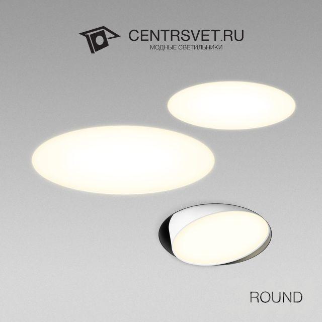 3d модели: Встроенные светильники - ROUND