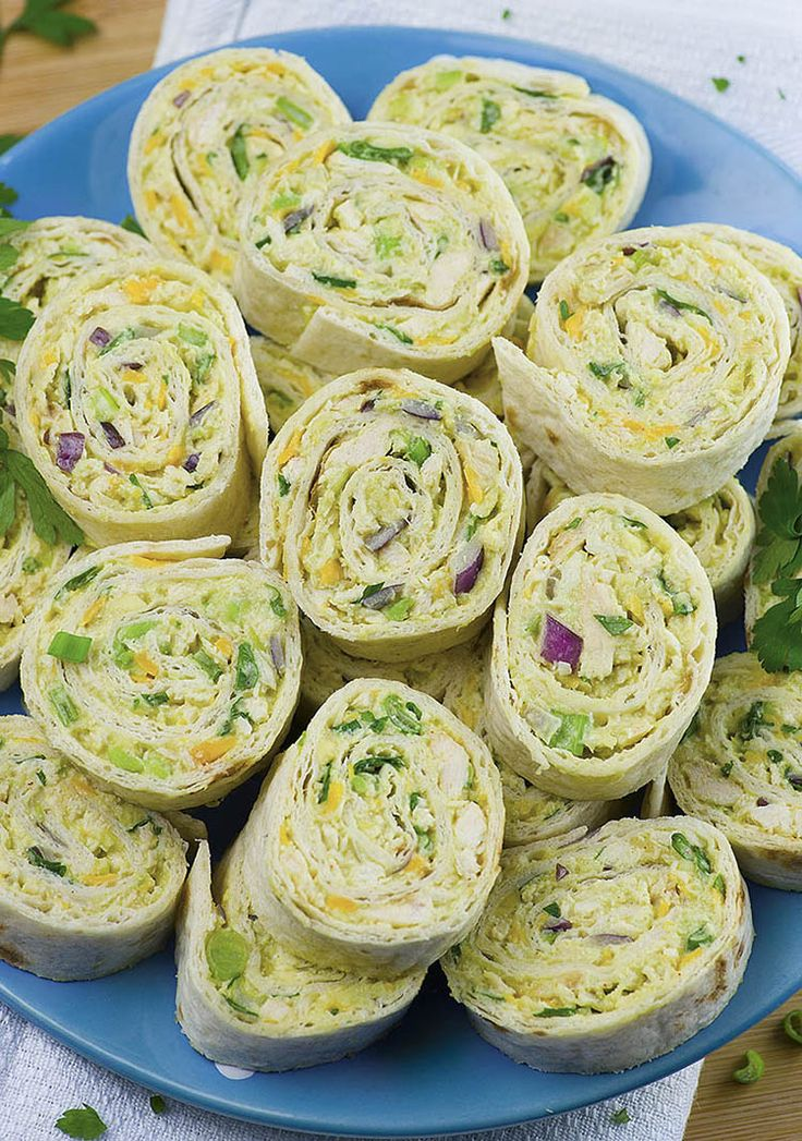 Chicken Avocado Salad Roll Ups